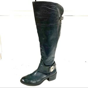 VINCE CAMUTO Beatrix Studded Leather Riding Boots